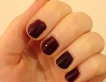 Barry M nail paint in Berry Cosmo