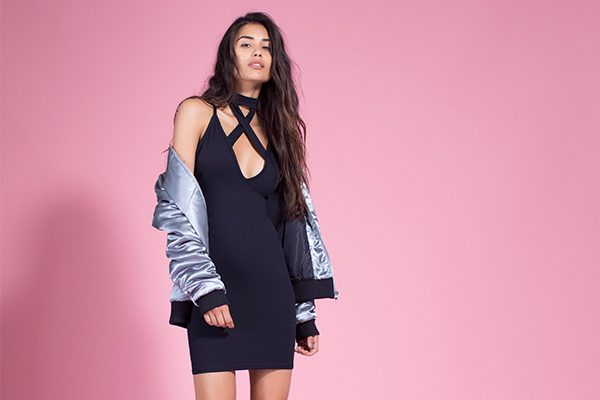 silver bomber jacket missguided