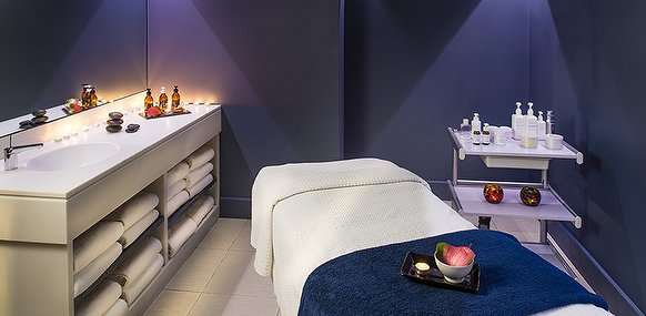 treatment room with bed chelsea spa