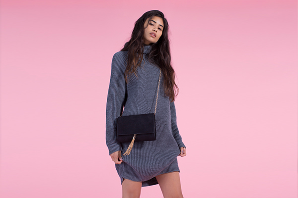 grey knitted missguided jumper