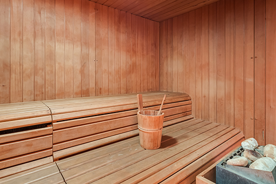 valentine's day spa sauna